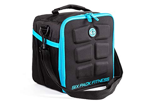 6 bolsas de deporte para gestión de alimentos, incluye latas y bolsas de refrigeración, bolsa de almuerzo (azul)