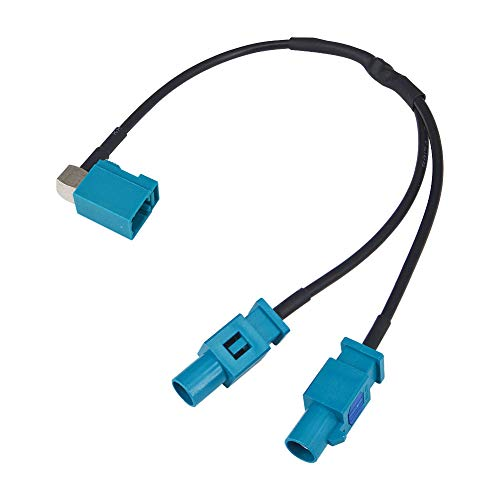 YILIANDUO Câble Antenne GPS Fakra Adaptateur Fakra Femelle vers Double Fakra Mâle Splitter Combiner Pigtail pour Voiture RG174 20CM