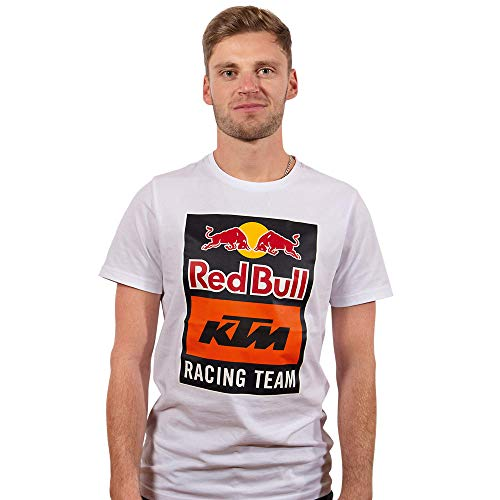 Red Bull KTM Emblem T-Camisa, Blanco Hombres Medium Camisa Manga Larga, KTM Racing Team Original Ropa & Accesorios