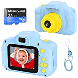 VATENIC Kids Toys Birthday Christams Gift for 3-10 Year Old Boys Girls, Kids Camera 1080P 2inch HD Children Digital Cameras for Girls,Toddler Camera for 3-9 Year Old Boy (with 32G SD Card) (Blue)