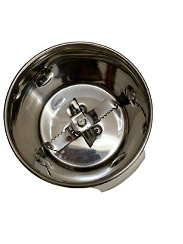 Seraphic Stainless Steel Mixer Chutney Steel Jar,(Black)