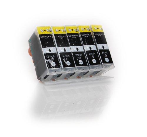 5x schwarz XL Druckerpatronen zu Canon PGI-5BK für Canon PIXMA MP500 510 520 530 600 600R 610 800 800R 810 830 960 970 MX700 MX850 iP3300 4200 4200X 4300 4500 4500X 5200 5200R 5300 6600 6600D