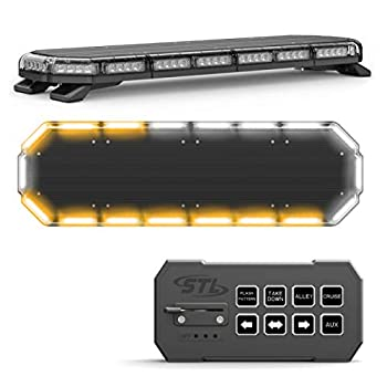 SpeedTech Lights K-Force 36 Full Size LED Police Strobe Light Bar Roof Mount Emergency Vehicle Warning Lights for Tow Trucks Cars Fire EMS Security Construction Plows Wreckers - Amber/Clear