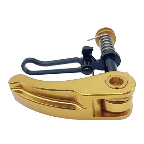 Amagogo Abrazaderas de Tubo de Asiento Plegables Ajustables para Bicicleta Bromptom, Accesorios para Bicicletas para Mejorar el Rendimiento - de Oro