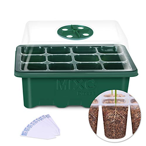 green seed starting tray with dome lid