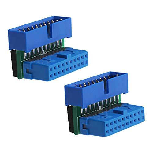 EMSea 2 conectores en ángulo de placa base USB 3.0, extensión de...