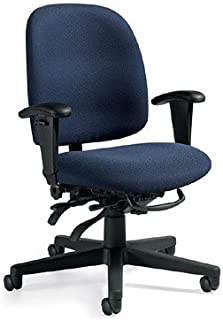 Mid Back Ergonomic Chair with Arms Granada Collection by Global Furniture - 3212-3N