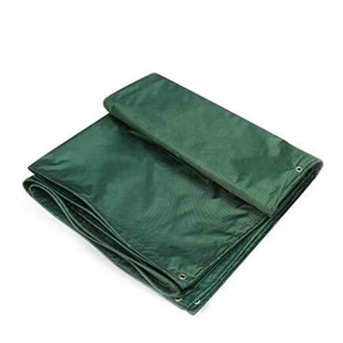 Bâche De Protection, Bâche Extérieure Épaisse Imperméable En Plastique D'antigel Mou Épais - Vert (taille : 3.8m*5.8m)