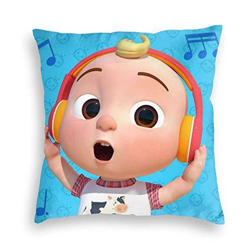 Tengyuntong Throw Square Throw Pillow Cover/Funda de Almohada Cocomelon Velvet, Throw Smooth para sofá, sofá, Dormitorio, Coche de 16 'x 16'