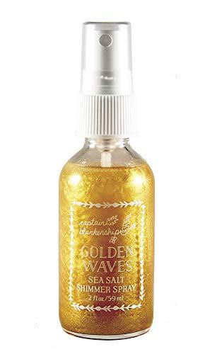 Captain Blankenship Golden Waves Sea Salt Shimmer Hair Spray, Texturizing Spray with Natural...