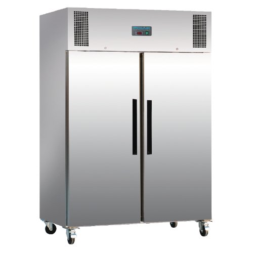 Polar doble puerta congelador acero inoxidable comercial