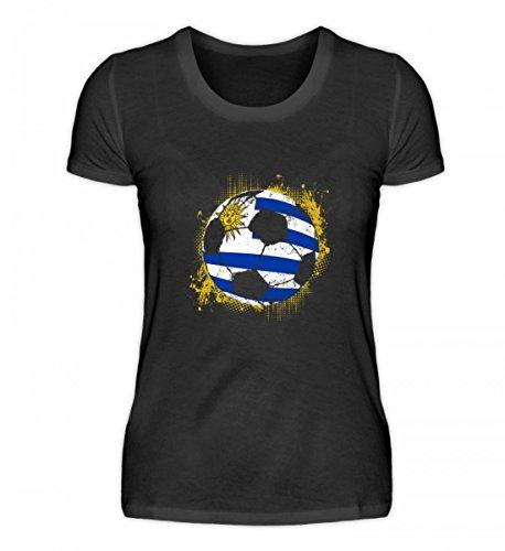 EBENBLATT Hochwertiges Damenshirt - Uruguay WM Trikot - Uruguay/Fußball Trikot/Nationalmannschaft/Geschenk WM