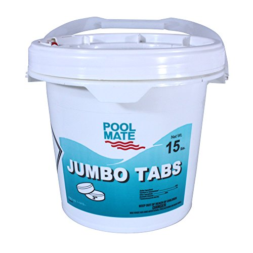 Pool Mate 1-1415 Jumbo Swimming Pool Chlorine Tabs, 15-Pounds