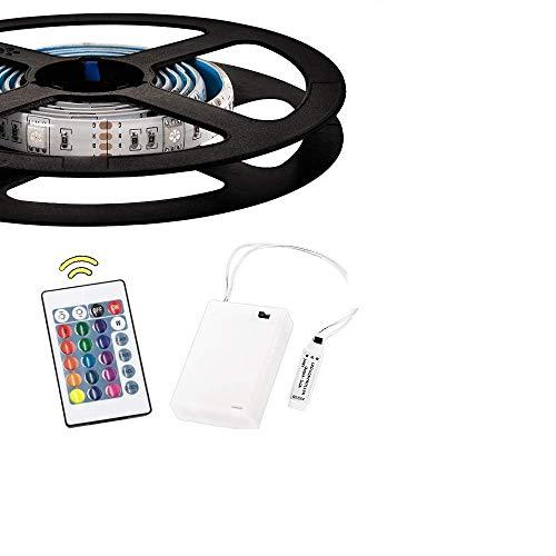 1 m batteriebetriebene RGB-LED-Lichtbänder Flexible Lichtschlauchbeleuchtung mit Batterie-Netzteil und 24 Tasten RF-Fernbedienung