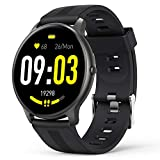 AGPTEK Smartwatch Uomo Fitness Impermeabile IP68 Sport, Cardiofrequenzimetro da Polso Uomo con Touchscreen 1.3', Smart Watch Sportivi Controllo Musica Cronometro Contapassi (Nero)