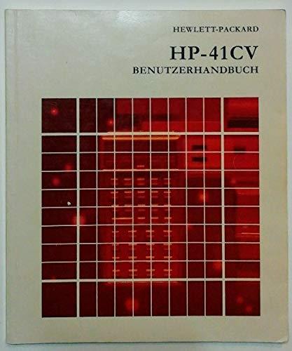 Hewlett-Packard - HP-41CV Benutzerhandbuch.