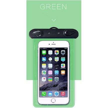Waterproof Case, Green Universal Clear Transparent Waterproof Cellphone Case Cover, Dry Bag for Outdoor Activitie Swimming, Surfing, Fishing, Skiing, Boating, Beach ABBOTT