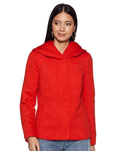 ONLY Damen onlSEDONA Short Jacket OTW Jacke, Rot (Goji Berry Detail: Solid), 38 (Herstellergröße: M)