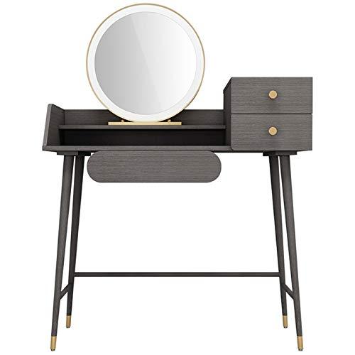 ZXNRTU Robusto y Duradero Set de tocador con Espejo, 3 cajones de tocador de Maquillaje con Taburete Acolchado, cómoda Multifuncional