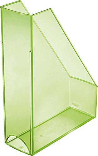 Helit Economy H2361450 Portariviste, formato Din A4, in plastica trasparente, formato C4, colore: verde