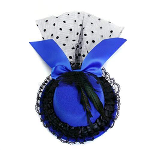 Beaupretty Fascinators Chapeau Maille Bandeau Clip Mini-Chapeau Haut de Forme Chapeaux de Fête pour Les Filles Et Les Femmes