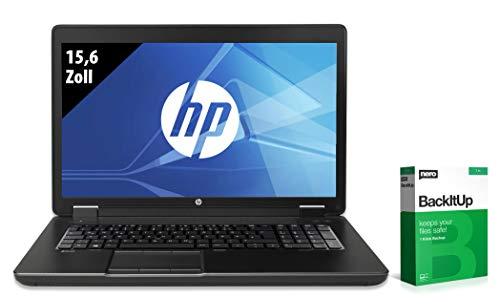 HP ZBook 15 G2 | Workstation | 15,6 Zoll | Core i7-4810MQ @ 2,8 GHz | 8GB RAM | 250GB SSD | DVD-RW | Quadro K2100M | FHD (1920x1080) | Windows 10 Pro (Zertifiziert und Generalüberholt)