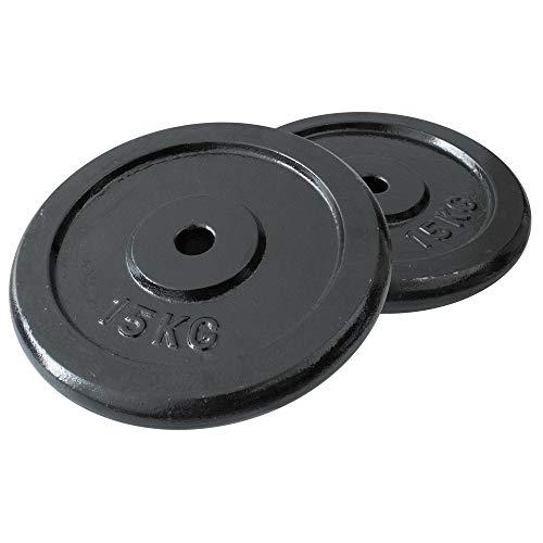 FIELDOOR ブラックアイアンダンベル 10kg 20kg 15kg 30kg 20kg 40kg 30kg 60kg 標準シャフト径28mm ハードロックカラー ゆるまないカラー標準装備 ジョイントシャフトで連結可能 (別売り15kgプレート×2セッ
