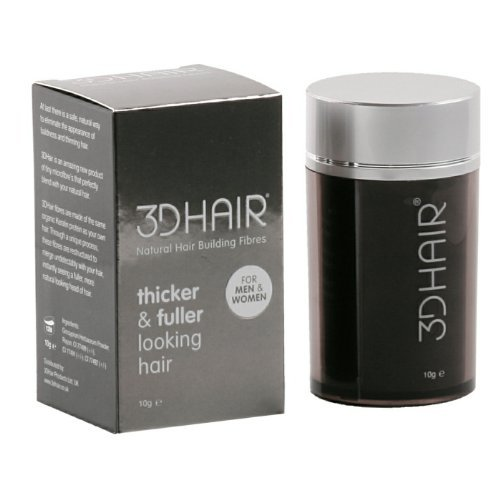 3D Hair Loss Fibres for Thinning Hair Black 10g by 3D Hair