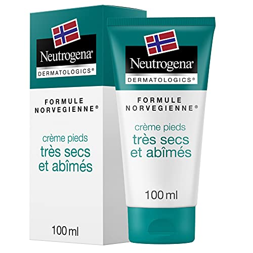 Neutrogena Crème Pieds, Soin Pour Pieds Très Secs et Abîmés, Tube 100 ml