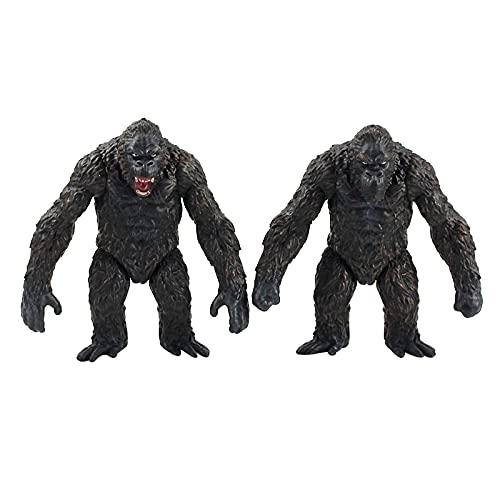 agzhu 2 Stili/Set 8.5 Cm Film King Kong Kong Skull Island PVC Action Figure da Collezione Modello Giocattoli Bambole Regalo per I Bambini
