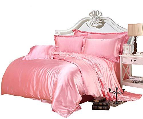 pink satin bedding