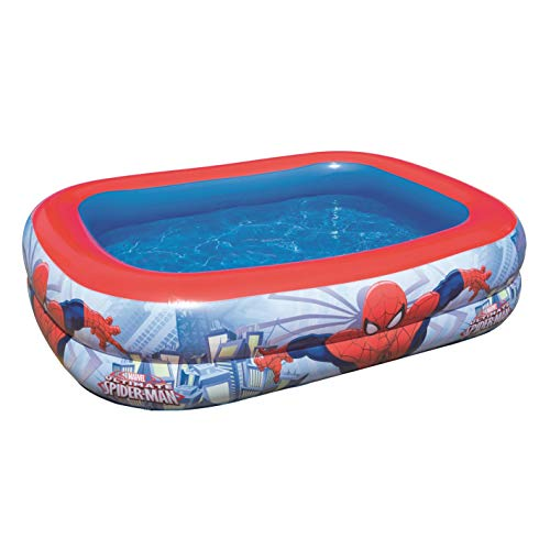 Bestway 98011 Spider Man piscine pataugeoire rectangulaire 201 x 150 x 51 cm