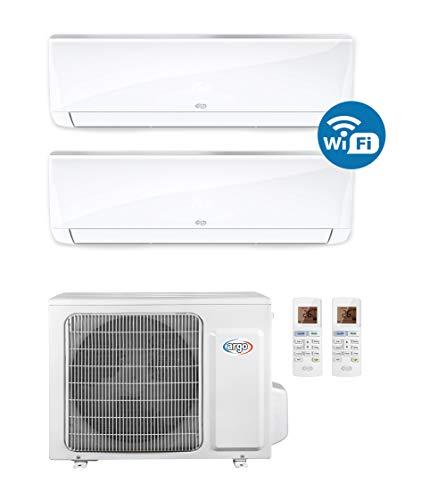 ARGO Ecowall 9 + 12 Climatizzatore Fisso, DC Inverter, con WiFi, con pompa di calore, Bianco, 9000 + 12000 BTU/h