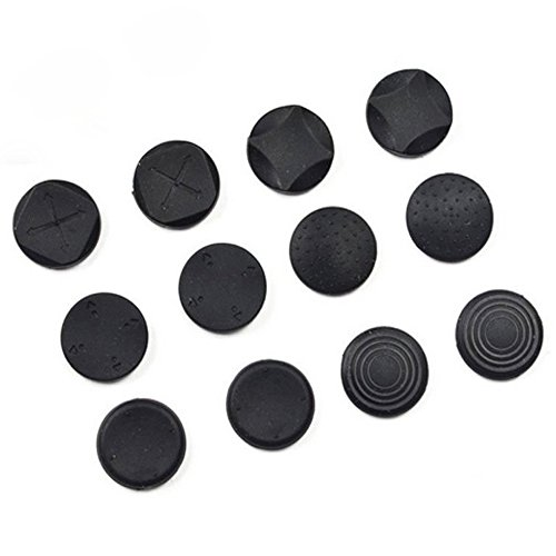 ElementDigital 12pcs Joysticks Pad Cover, Button Protectors Thumbstick Joysticks Pad Cover Case for Playstation Vita PSV