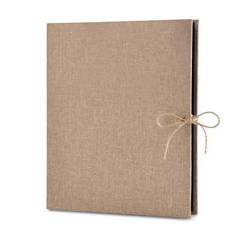 VEESUN Album de Fotos Scrapbook, 60 Páginas Negras (30 Hojas), DIY Scrapbooking Album Original para Aniversario de Boda de Oro Cumpleaños Navidad para Mujer Niña Novios Novia Regalos, Beige