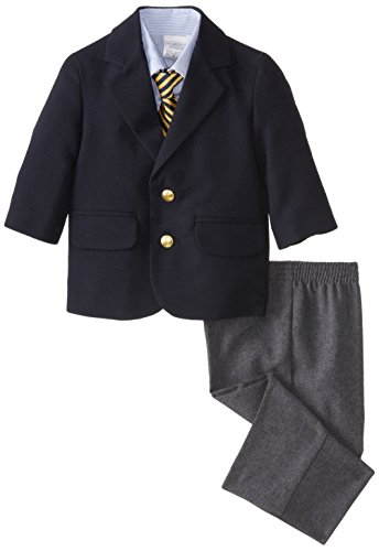 Nautica Baby Boys' Poplin Blazer and Dress Pant Set with Woven Shirt, Navy, 24 Months
