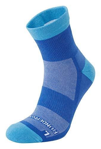 Runderwear - Calcetines de running antiampollas, media - doble capa, calcetines para correr, Unisex adulto, color Azul/Cian, tamaño Medium (UK 6.5-8.5)