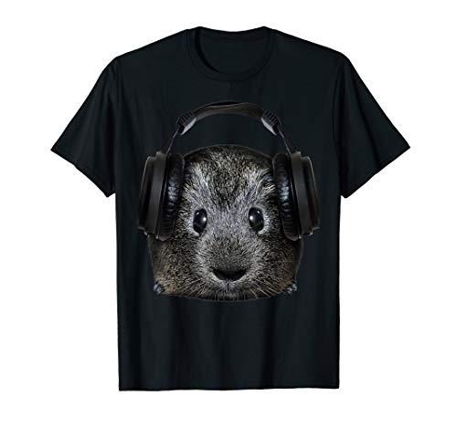 DJ Meerschweinchen Geschenk Musik Festival Elektro Haustier T-Shirt