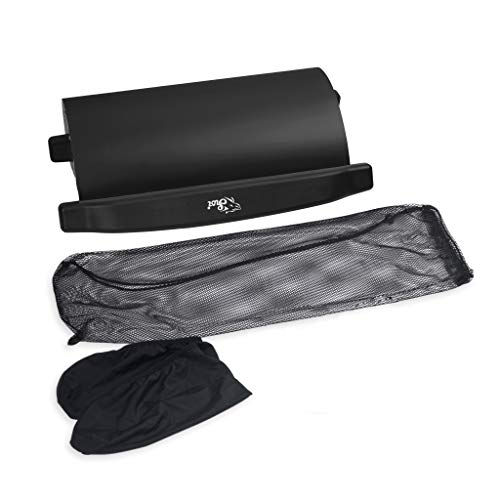 G-Dreamer Slide Board -72 Inch-with Reinforced End Stops for High Intensity and Low Impact Exercise Slideboard Skiing Practice Yoga Mat (Black)