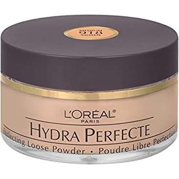 L Oreal Paris Hydra Perfecte Perfecting Loose Face Powder Minimizes Pores & Perfects Skin Sets Makeup Long-lasting & Lightweight with Moisturizers to Nourish & Protect Skin Medium 0.5 fl oz.