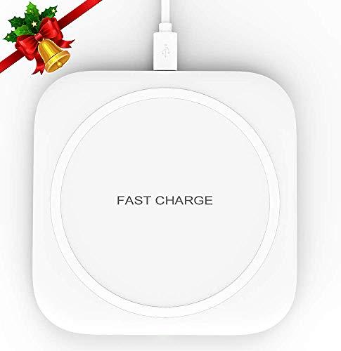 Wireless Charger 10W Kabelloses Ladegerät Qi Ladestation Schnellladen für Samsung Galaxy S10/S10+/S9/S8, Huawei P30 Pro/Mate 20 Pro, 7.5W für iPhone 11/11 Pro/XS Max/XR/X/8/8 Plus/Airpods 2