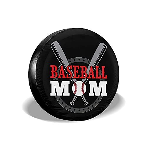Cubierta de neumático Baseball Mom Poliéster Universal Rueda de Repuesto Cubierta de neumático Cubiertas de Rueda para Remolque RV SUV Camión Accesorios para remolques