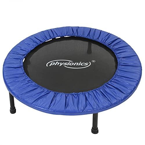 Physionics® Fitness Trampolin - Durchmesser (Ø): 81cm / 91cm / 96cm / 102cm / 114cm / 122cm, Indoor und Outdoor, max: 100 KG, mit Randabdeckung - Kindertrampolin, Gartentrampolin, Mini Trampolin