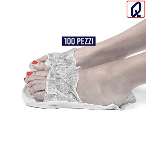 Ciabatte Monouso, Pantofole Usa e Getta, Pantofoline in TNT, Ciabattine per Pedicure, spa, centro benessere, estetisca, Colore Bianco, Quantità 100 pz - 200 pz - 400 pz - 1000 pz.