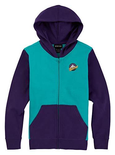 Burton Retro Mountain Full-Zip Hoodie Sweat á Capuche zippé Mixte Enfant, Dynasty Green, FR (Taille Fabricant : XL)