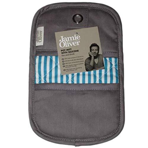 Jamie Oliver Topflappen mit Silikon warm Grau
