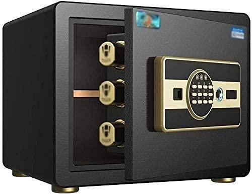 Caja de seguridad electrónica de acero a prueba de fuego Caja de seguridad digital inteligente para huellas dactilares Caja de seguridad electrónica de acero para dinero Gabinete de seguridad Caj