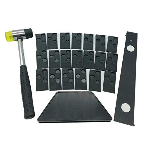 Toomett #81224 - Kit Di Installazione Per Pavimenti In Legno Laminato, Con 20 Distanziatori, Blocco Filettato, Barra Di Trazione E Martello