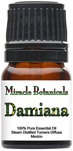 Miracle Botanicals Damiana Essential Oil - 100% Pure Turnera Diffusa - Therapeutic Grade - 2.5ml