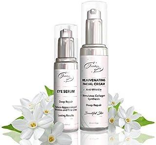 Natural Ingredients KIT - EYE SERUM & FACE CREAM: Wrinkle Filler, Moisturizer, Under Eye Bags and Dark Circles, Deep Repai...